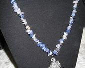 Blue Adventurine Dragon Necklace