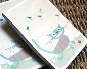 cat notepad by evie lala