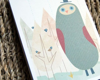 owl notepad by evie lala