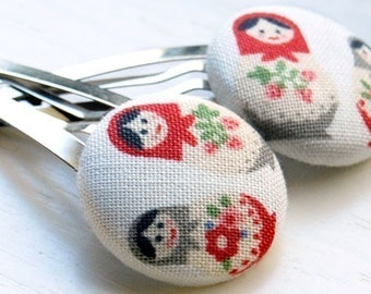 Russian Nesting Dolls Hair Clips