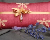 Lavender Pillow Dragonfly Pillow