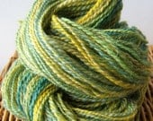 Lemon and Lime Handspun Yarn, Wensleydale, 142 yards