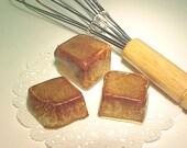 FAKE Chocolate Fudge Brownies Caramel Brown Handmade Clay Food Not Real But Yummy Looking
