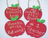 Teacher Gift Red Apple Chalkboard Choose ONE Hanging or Magnet
