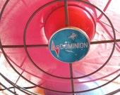 Power Girl Vintage Fan Dominion Fan Pink n Aqua