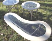 60s Kidney Coffee Table Vintage End Tables Mid Century Modern  Amoeba  PICK Up Only
