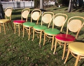Vintage 80s Bentwood Ice Cream Parlor Chairs. 8 Chairs. Pick up ONLY