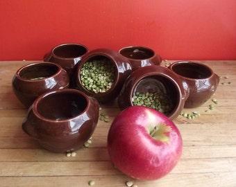 7 McCoy Heinz Bean Pots / Vintage 70s Advertising Memorabilia / Country Kitchen