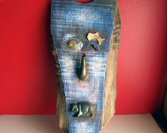 Sculpture Mask w Vintage Found Objects