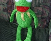 Hand Crocheted Kermit Toy
