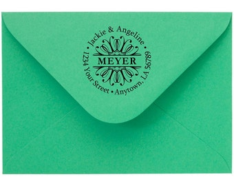 Personalized Custom Made Return Address Rubber Stamps R39