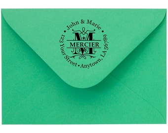 Personalized Custom Made Return Address Rubber Stamps R89