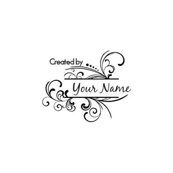 Handle Mounted Personalized custom made rubber stamps C18