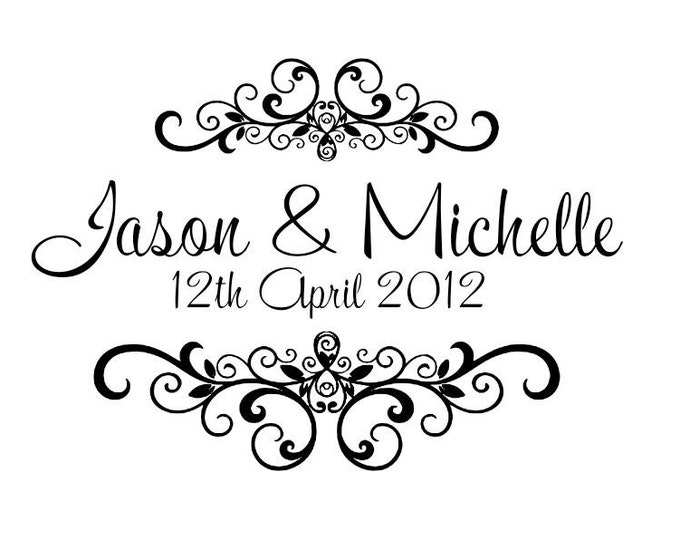 Personalized wedding Mounted rubber stamps W12 Let love grow