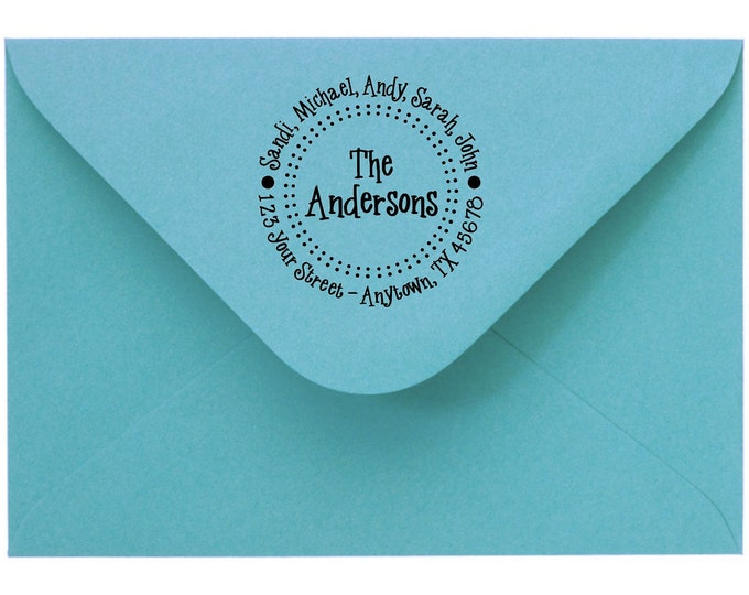 Personalized Custom Handle Mounted Made Return Address stamp Rubber Stamps R49
