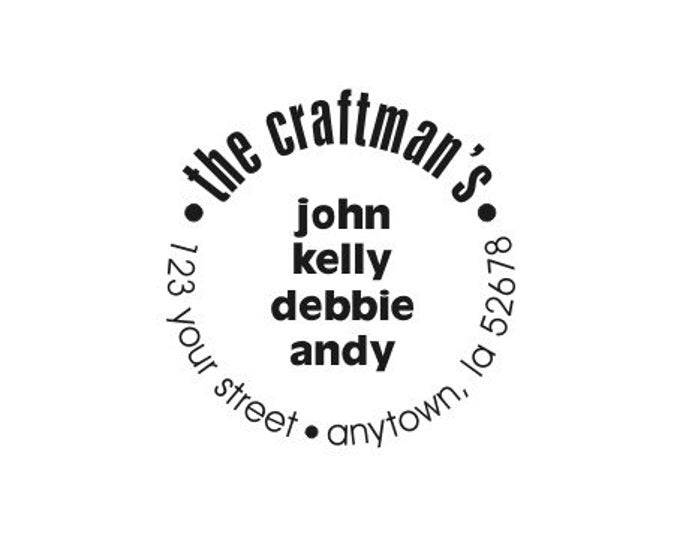 Personalized Custom Made Handle Mounted Return Address Rubber Stamps R37
