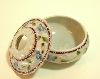 Vintage Ceramic Vanity Jar