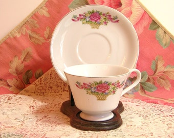 Flower Basket Cup And Saucer