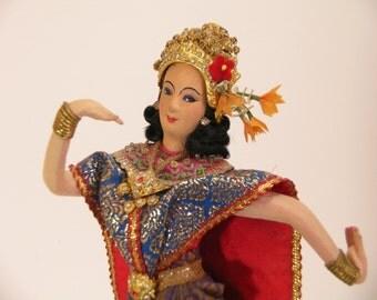 Vintage Bangkok Doll Dancing Princess