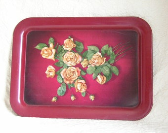 Tin Tray with Roses