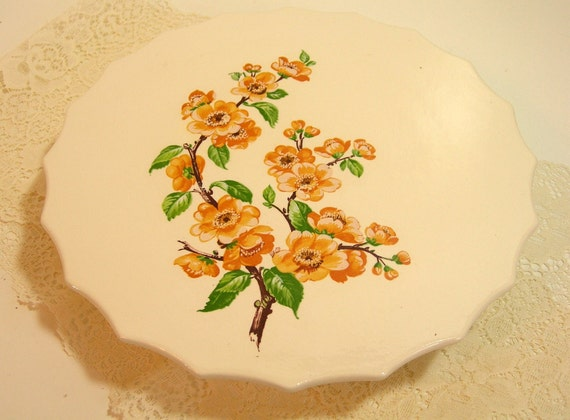 Cakeplate With Golden Dogwood Design