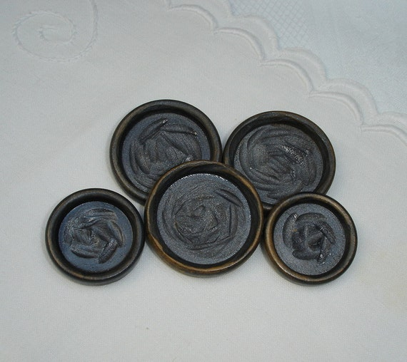 Vintage Wooden Buttons 70