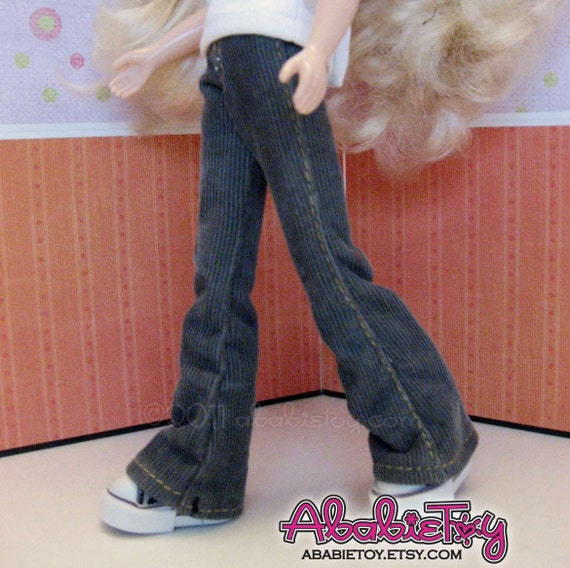 Fashion Flared Corduroy Pant for Blythe - Gray