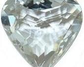 Puffy Heart Austrian crystal pendant 28mm
