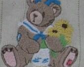 Embroidered Cherished Teddies girls shirt Black eyed susan
