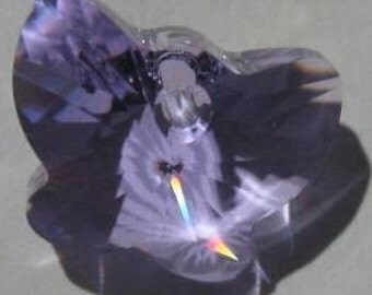 swarovski   butterfly lavender 18mm crystal