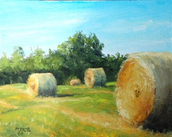 Golden Harvest Print of my Original Oil Painting