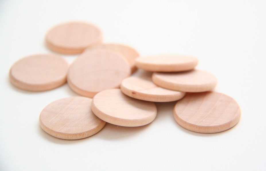 10 Large Wooden Coins Disc Circle Cut Out By Goosegreaseundone