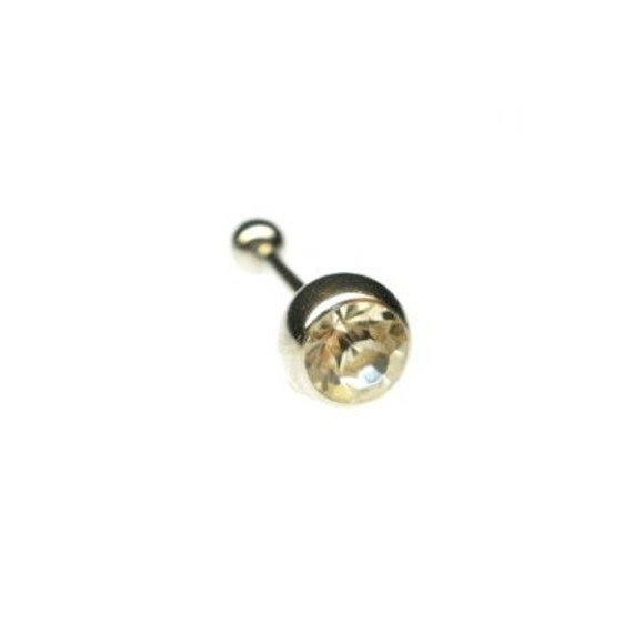Tongue Jewelry Barbell Double Gem