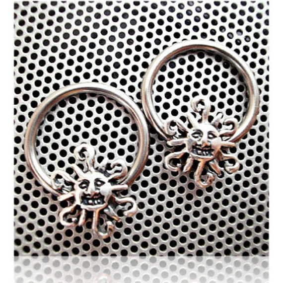 Nipple Ring Jewelry Sterling Sun Tribal