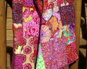 HOT HOT HOT HANDMADE Kaffe Fassett Throw Quilt