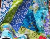 Blue Hawaii HANDMADE Toddler Baby Quilt