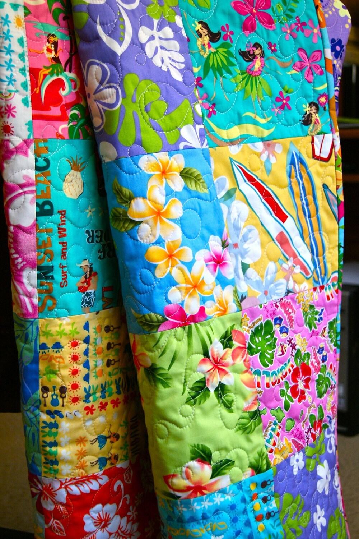 Hawaiian Sweet Wahine Handmade Toddler Baby Quilt