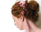 Cherry Blossom Bridal Comb