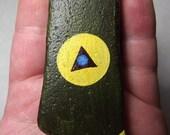 Rekindle Stones 19 : hand painted ocean stone