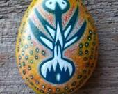 Rekindle Stone 60 : hand painted ocean stone
