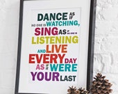 Sing As If A3 Print Unframed
