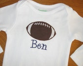 Football Applique Shirt or Onesie - Personalized Embroidered