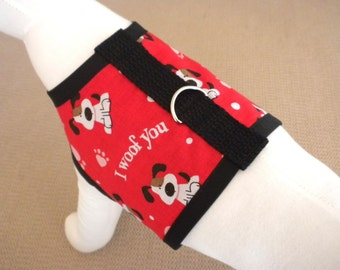 I Woof You Valentine's Day Harness Vest