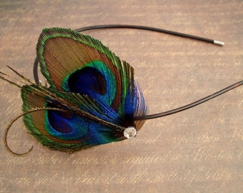PETIT PAON - Peacock Feather Headband - As Seen on TLC's Four Weddings