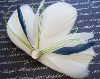 MILA Lime and Navy - customizable bridal fascinator