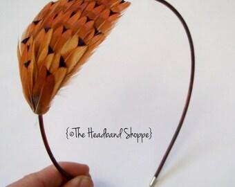 PETIT BRONZE - Petite Size Auburn Bronze Pheasant Headband