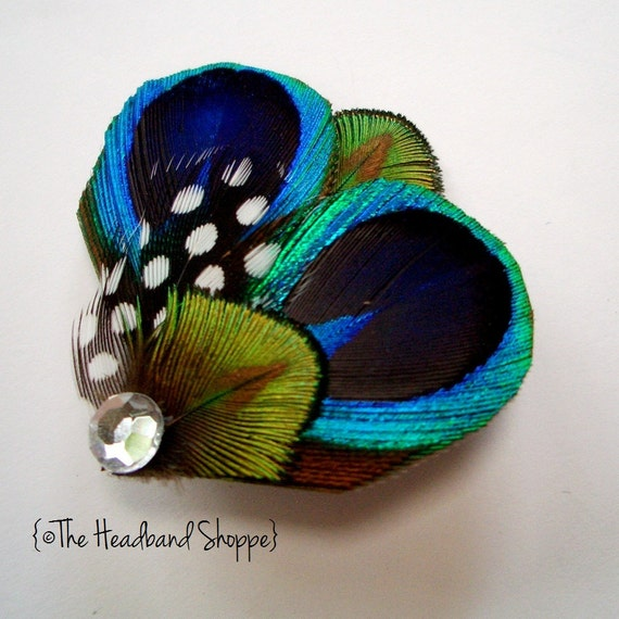 COCO - Sweet and Petite Peacock Feather Hairclip