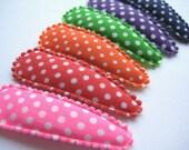 Bright Polka Dots Snap Clips (Set of 6) - 2 inch snap clips