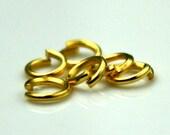 5mm Jump Rings, 200 Gold Plated Jump Rings Open 6x0.7mm 21 Gauge 21G Bulk Jumprings Jump Rings Link Connector Open Jump Rings O Ring