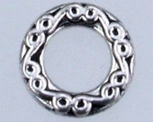 20 pcs of Antique Silver fancy jumpring Link 10mm round - Soldered Link 1.8mm thickness